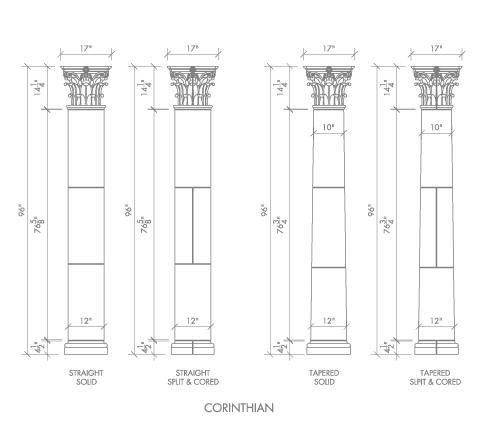 Alkusari Stone: Columns Corinthian