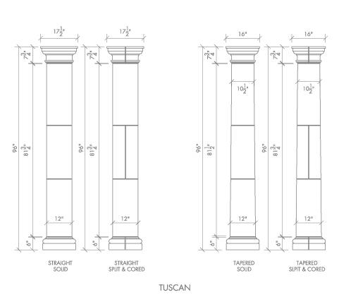 Alkusari Stone: Columns Tuscan